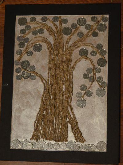 Картина денежное дерево сделать своими руками